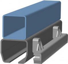 Полимерная зубчатая рейка для раздвежных ворот