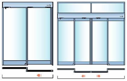 внешний вид двухсторонних дверей
