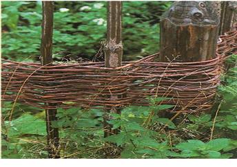 вид плетения из прутьев