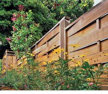 «плетеный» забор, сделанный из шпона