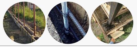 Для круглой формы столбов опалубка