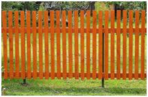 Забор лакированный