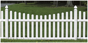 Крашенный забор