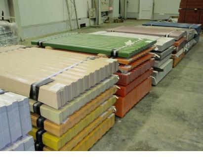 Упакованный профнастил