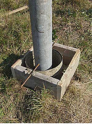 Опалубка из трубы