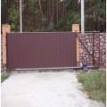 Профильные откатные ворота