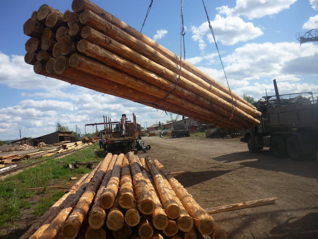 Деревянные столбы для линий электропередач