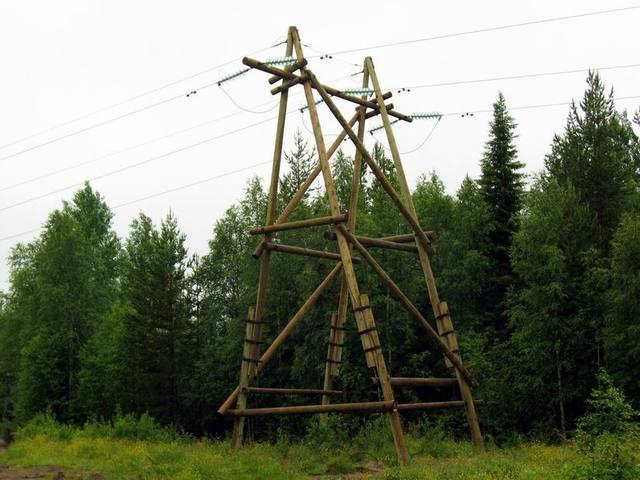 Деревянный столб