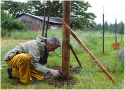 Проверка правильности установки столбов