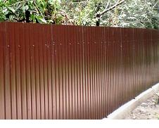 Забор из профиля