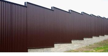 Забор ступенчатый