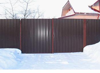 Готовый забор с воротами