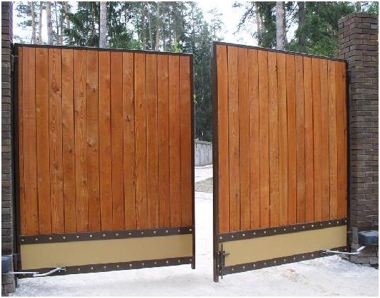 Каркас металлический для деревянных ворот