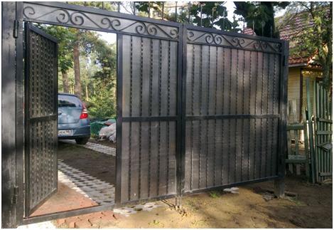 Сварные металлические ворота