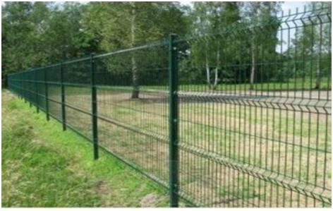 Ограда на винтовых сваях