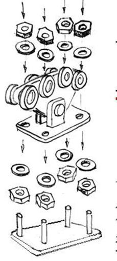 Помещение роликовых тележек в профиль