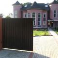 Сдвижные ворота на даче