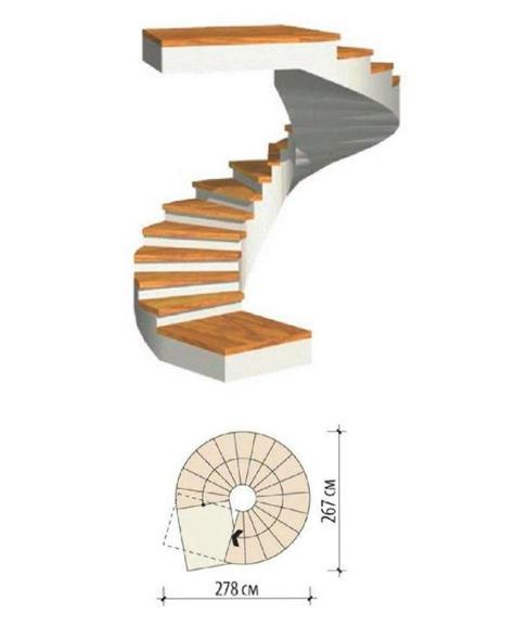 Спиралевидные ступени