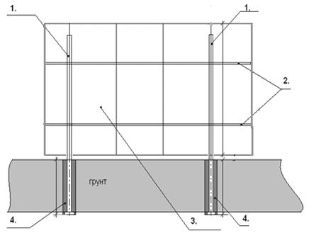 Изображение монтажа ограды