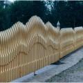 Фактурные распашные ворота