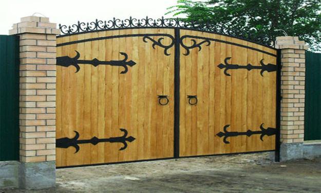 Откатные ворота для дачи своими руками 159