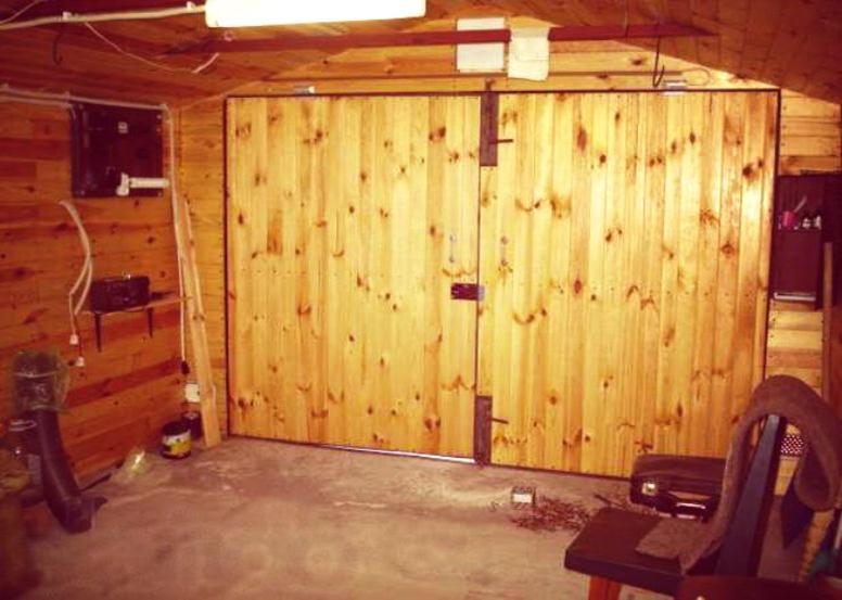Облицовка портала деревянными досками