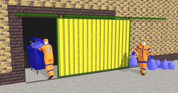 Вид сдвижных ворот