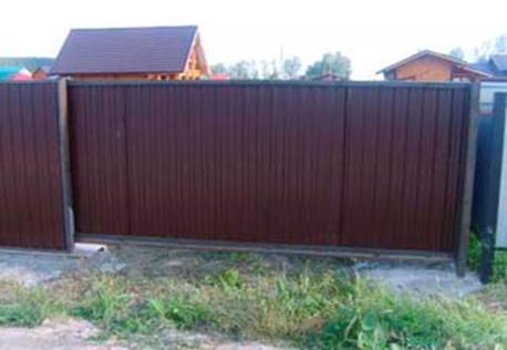 Дачные сдвижные ворота