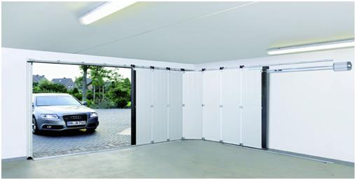 Откатные секционные ворота в гараже