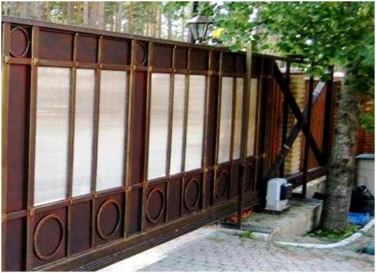 Сдвижные ворота с электроприводом