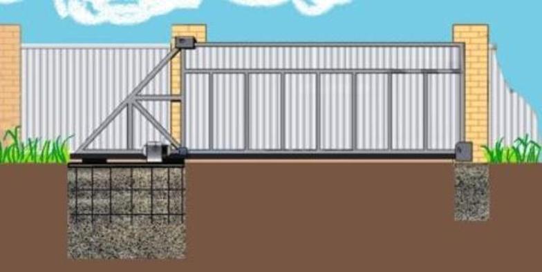 Фундамент и откатной портал