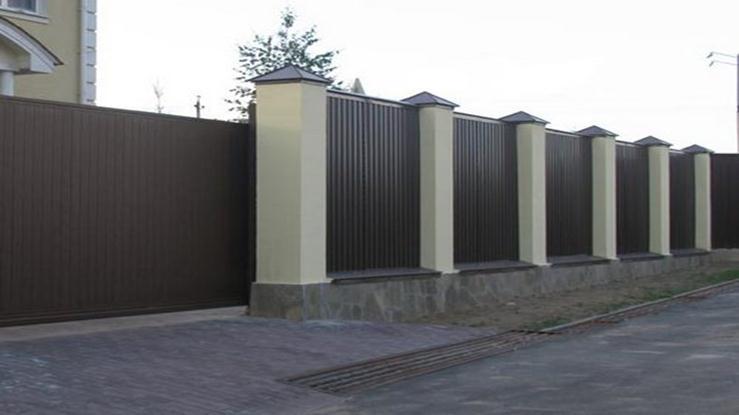 Сдвижная конструкция и ограда