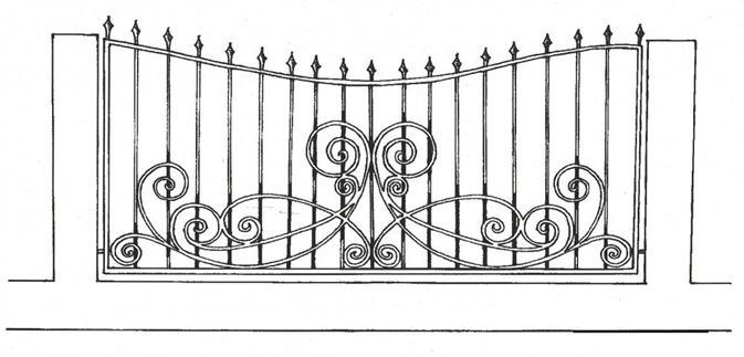 Кованая створка ворот