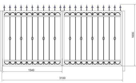 Необходимые замеры распашных кованых ворот