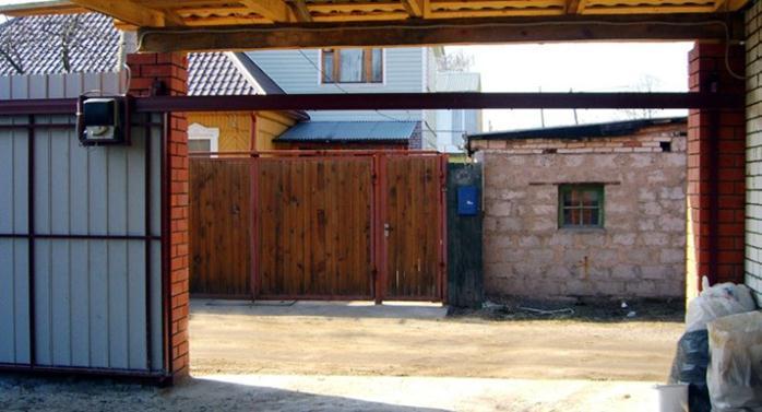 Подвесные ворота с приводом