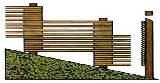 Установка ограды на участке под уклоном