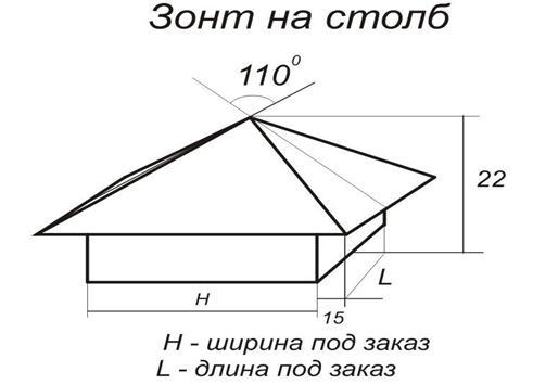 Крышка в форме зонта