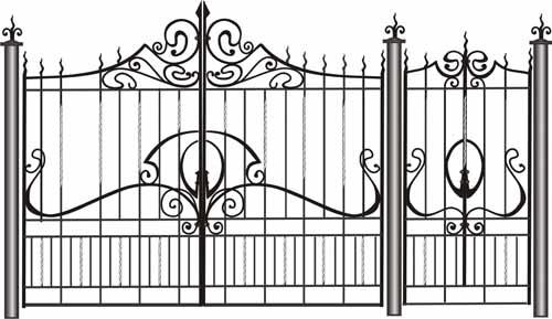 Иллюстрация ворот и калитки из металла
