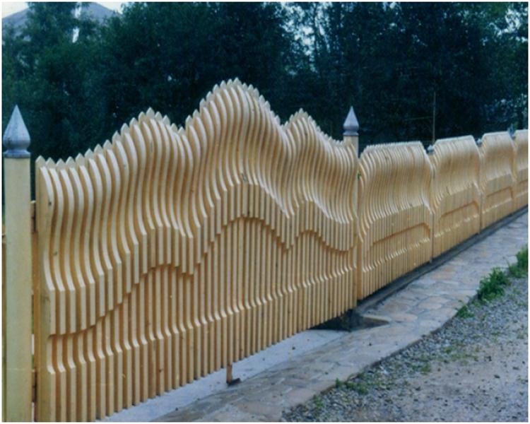 Оригинальные дачные ворота