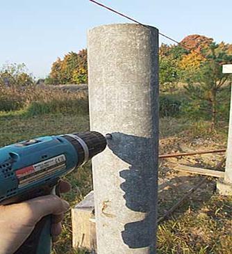Столб из цемента с внедрением асбестовых волокон