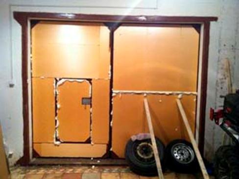 Теплоизоляция гаражного портала