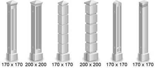 Столбы различного сечения