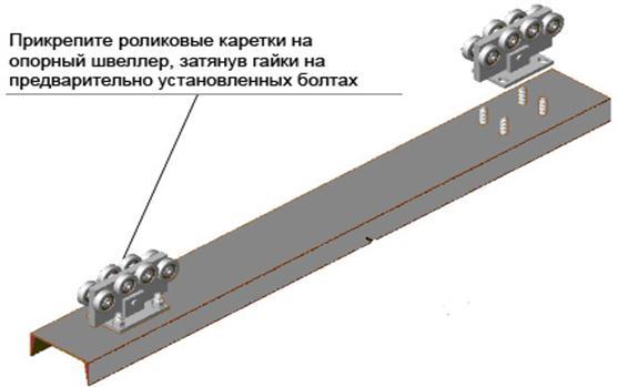 Направляющий швелер для раздвижных ворот обзор ворот дом