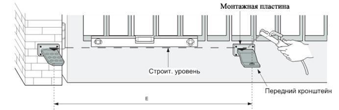 Монтаж кронштейнов