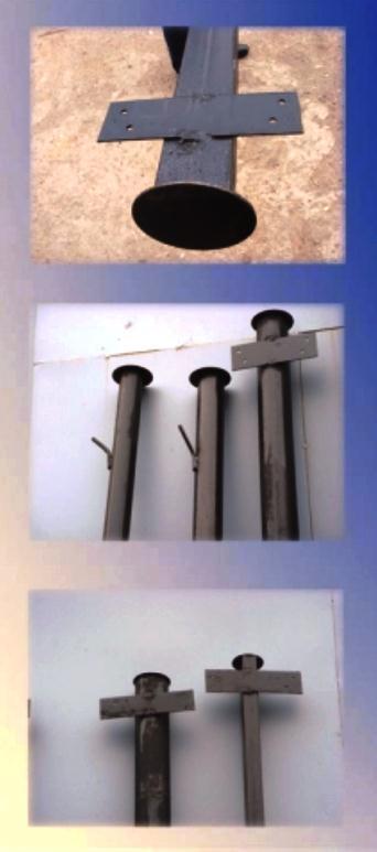 Металлические трубы с покрышками