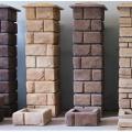 Столбы из бетонных модулей