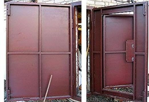 Двери из металла своими руками