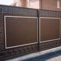 Самодельные двустворчатые ворота