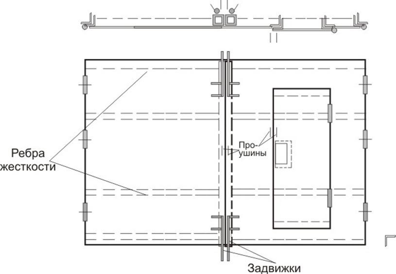 Конструкция распашного портала