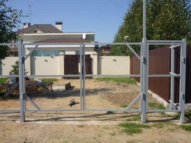 Рама для ворот с калиткой
